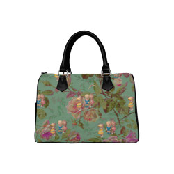 Hooping in The Rose Garden Boston Handbag (Model 1621)