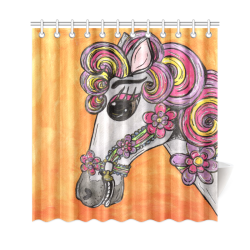 "Carousel Horse Shower Curtain Shower Curtain 69""x72"""