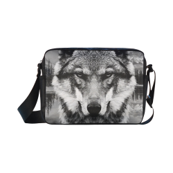 Wolf Animal Nature Classic Cross-body Nylon Bags (Model 1632)