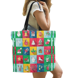 Christmas Calender by Nico Bielow All Over Print Canvas Tote Bag/Large (Model 1699)