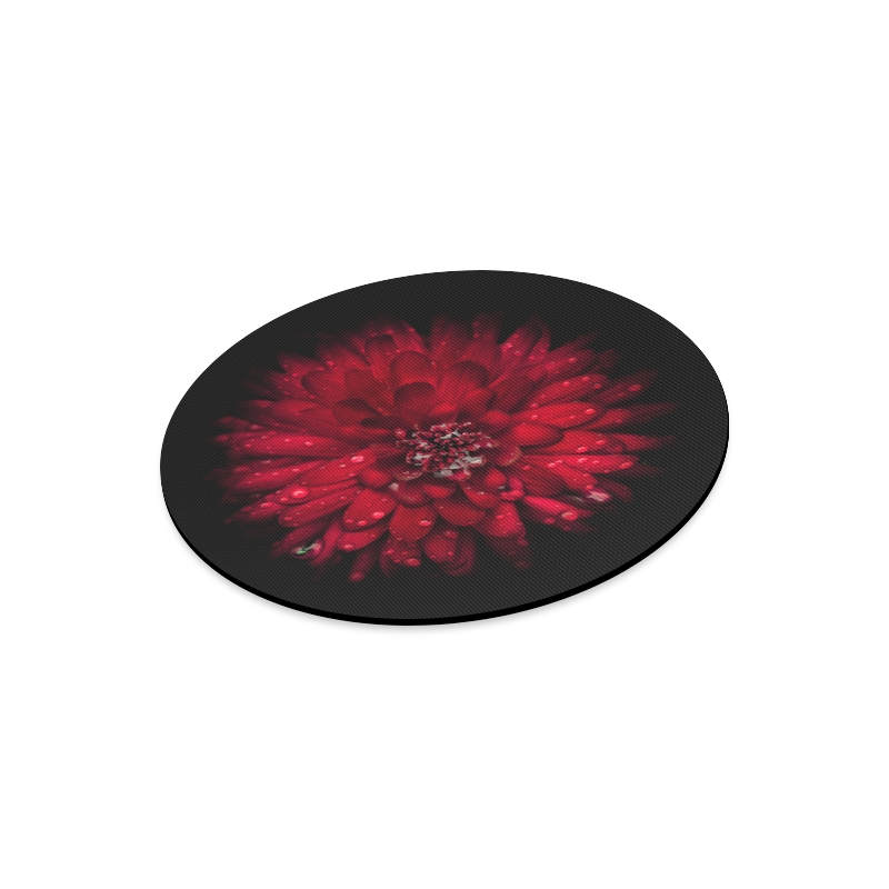 Backyard Flowers 45 Color Version Round Mousepad