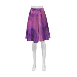 FD's Purple Marble Collection- Women's Purple Marble Short Skirt 53086 Athena Women's Short Skirt (Model D15)