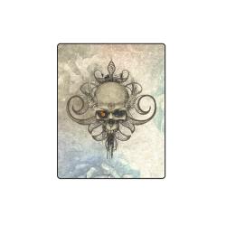 "Creepy skull, vintage background Blanket 40""x50"""