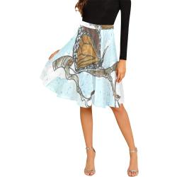 Butterfly Skirt Melete Pleated Midi Skirt (Model D15)