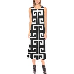 Classic Phaedra Sleeveless Open Fork Long Dress (Model D08)