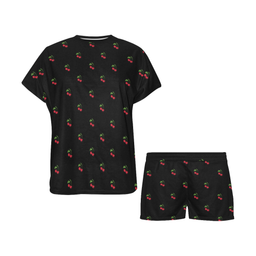 Cherries pajamas Women's Short Pajama Set (Sets 01)