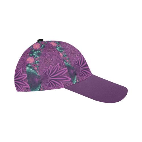 Pastel Jungle Leaves All Over Print Baseball Cap B