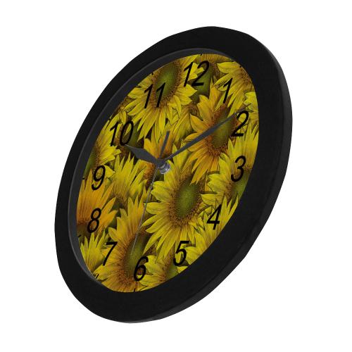 Surreal Sunflowers Circular Plastic Wall clock