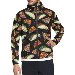 Taco Pizza tall Unisex All Over Print Windbreaker (Model H23)