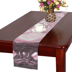 Gardenia Flora Pattern Table Runner 14x72 inch