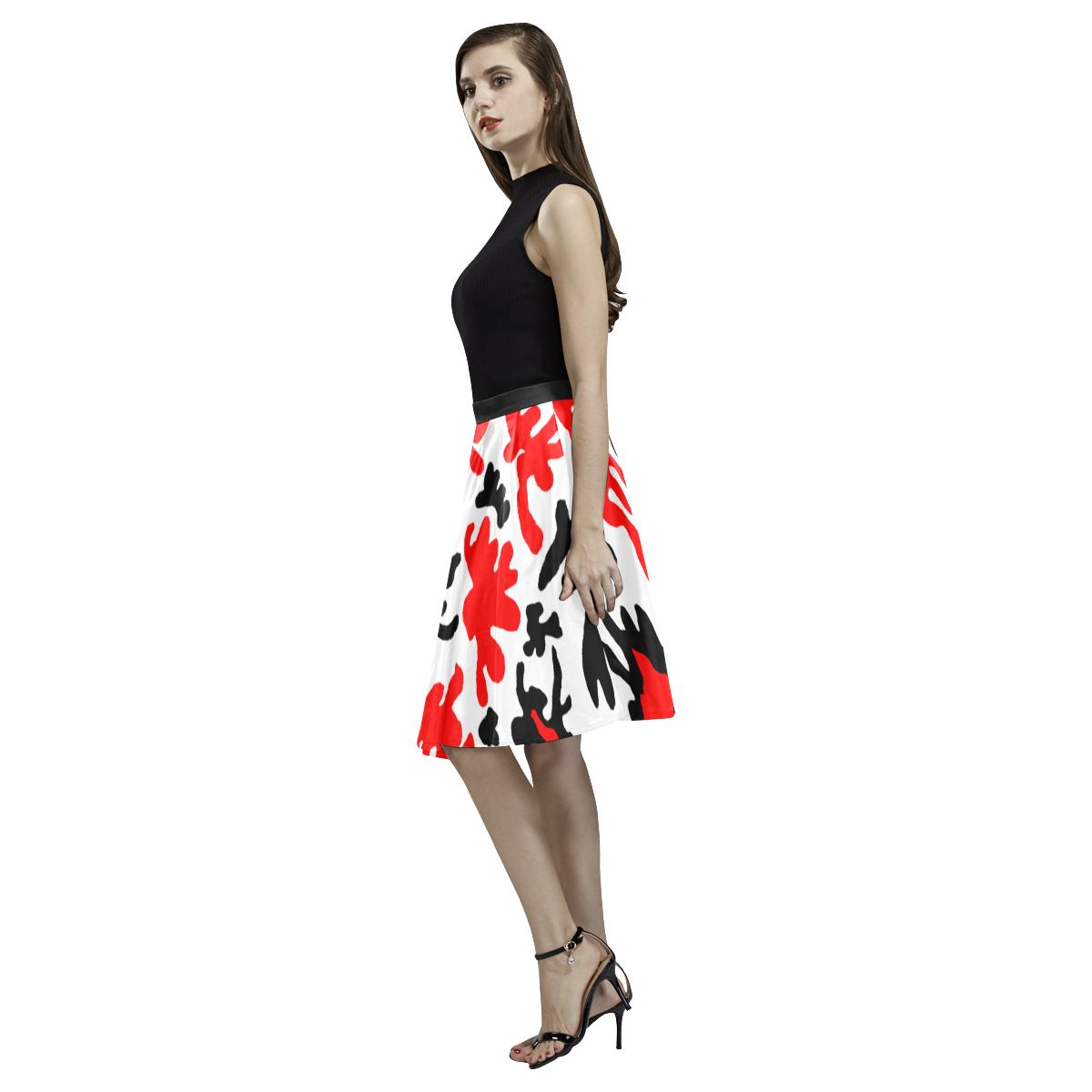 Fire Flower Melete Pleated Midi Skirt (Model D15)
