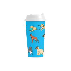 I Love My Dog Double Wall Plastic Mug