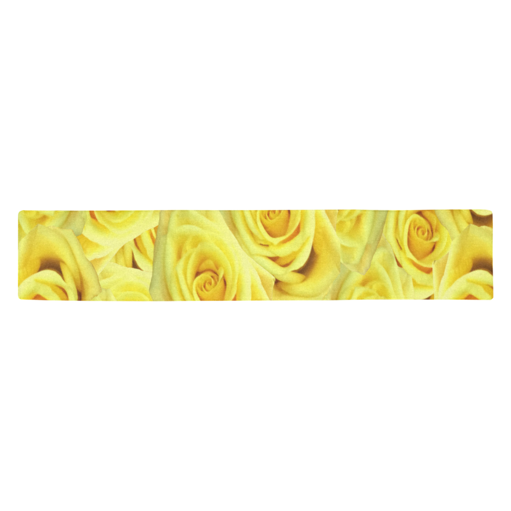 Candlelight Roses Table Runner 14x72 inch