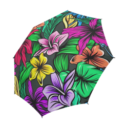 hibiscus Semi-Automatic Foldable Umbrella (Model U05)