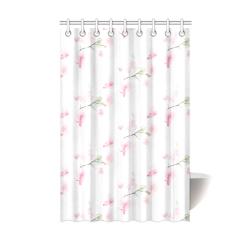 """Pattern Orchidées Shower Curtain 48""""x72"""""""