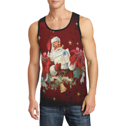 Santa Claus with gifts, vintage Men's All Over Print Tank Top (Model T57)