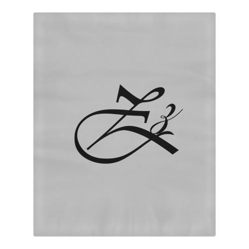 Alphabet Zz - Gray 3-Piece Bedding Set