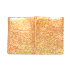 Orange and yellow swirls doodles Custom NoteBook B5