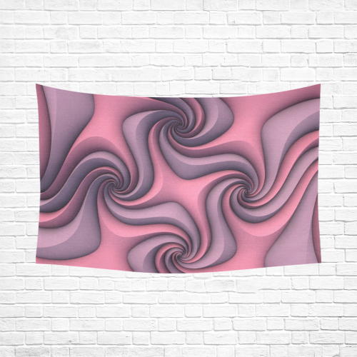 """Taffy (Pink/Lavender) Cotton Linen Wall Tapestry 90""""x 60"""""""