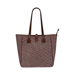 SNAKE LEATHER 7 Classic Tote Bag (Model 1644)