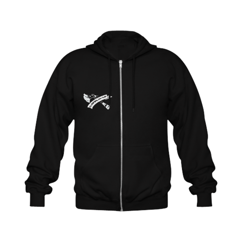People Of The Wolf Gildan Full Zip Hooded Sweatshirt (Model H02)