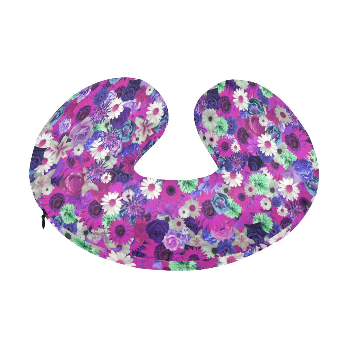 Purple Mint Fantasy Garden U-Shape Travel Pillow
