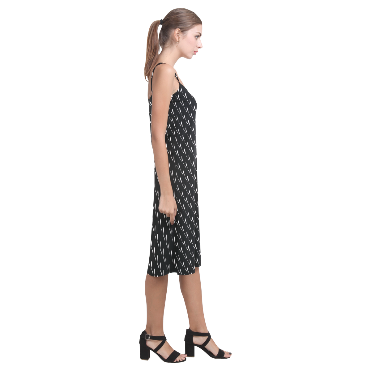 Bow Squiggles Alcestis Slip Dress (Model D05)