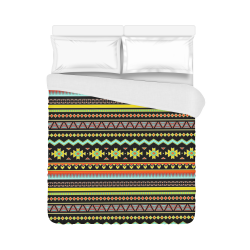 "bright tribal Duvet Cover 86""x70"" ( All-over-print)"