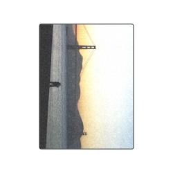 "Enjoying The Sunset Blanket 50""x60"""
