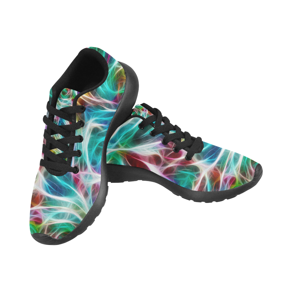 Misty Moods Blues  by Jera Nour Women's Running Shoes/Large Size (Model 020)