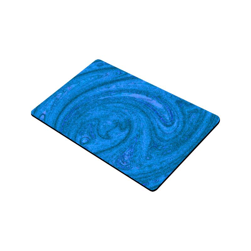"""Navy Abstract Nature's Grain Doormat 30""""x18"""""""