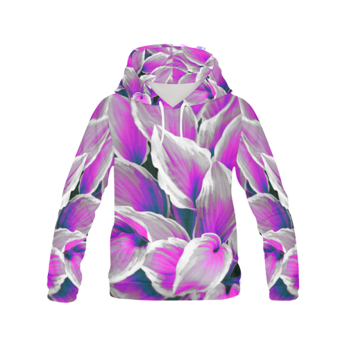 leafs_abstract 06 All Over Print Hoodie (for Women)