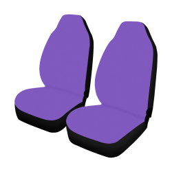 Purple Passion Solid Colored Car Seat Covers (Set of 2)