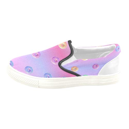 Mini Donuts Slip-On Shoes Men's Slip-on Canvas Shoes (Model 019)