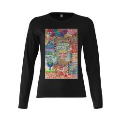 Colour my world Sunny Women's T-shirt (long-sleeve) (Model T07)