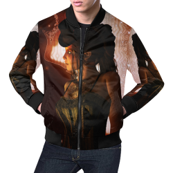 Beautiful steampunk women All Over Print Bomber Jacket for Men (Model H19)