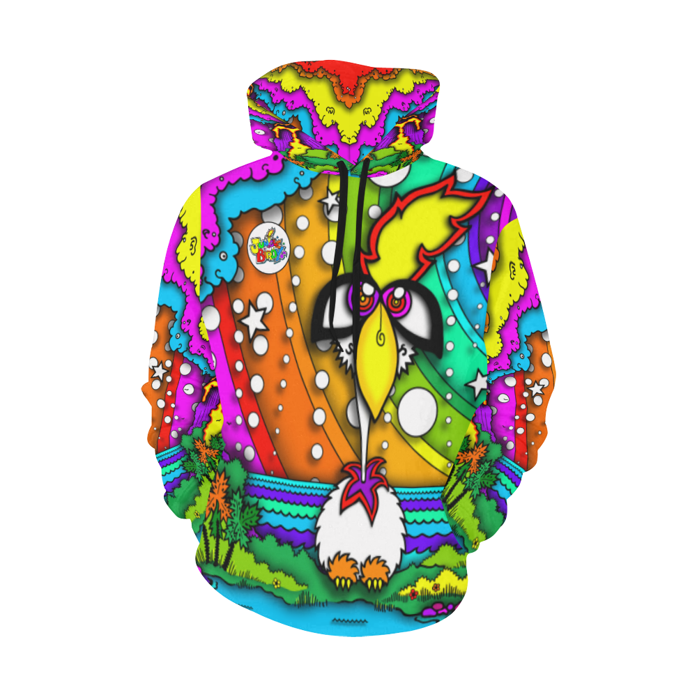 JUNGLEBIRDY - TINY ISLAND HOODIE All Over Print Hoodie for Women (USA Size) (Model H13)