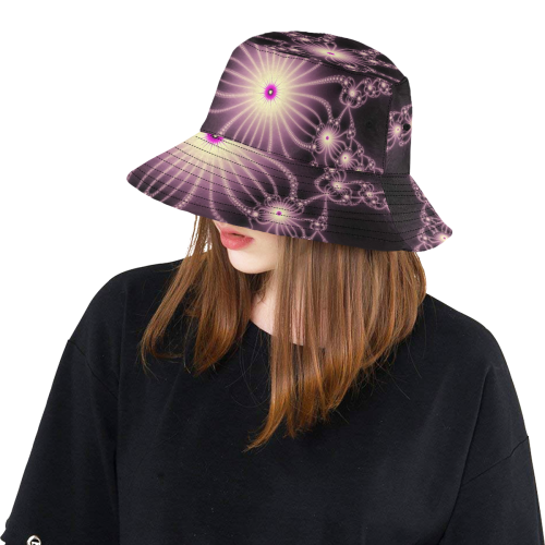 Pink Flower Bloom All Over Print Bucket Hat
