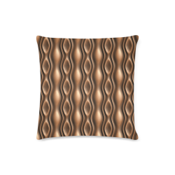 """Brown leather abstract wave Custom Zippered Pillow Case 16""""x16""""(Twin Sides)"""