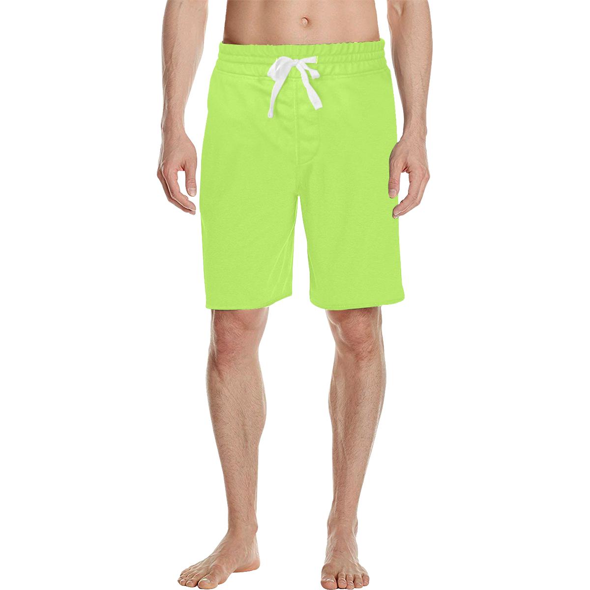 Rodger Mojito green Men's All Over Print Casual Shorts (Model L23)