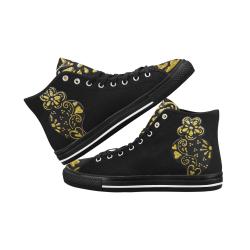 Gold Black heart Vancouver H Women's Canvas Shoes (1013-1)