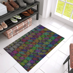 "Ripped SpaceTime Stripes Collection Azalea Doormat 30"" x 18"" (Sponge Material)"