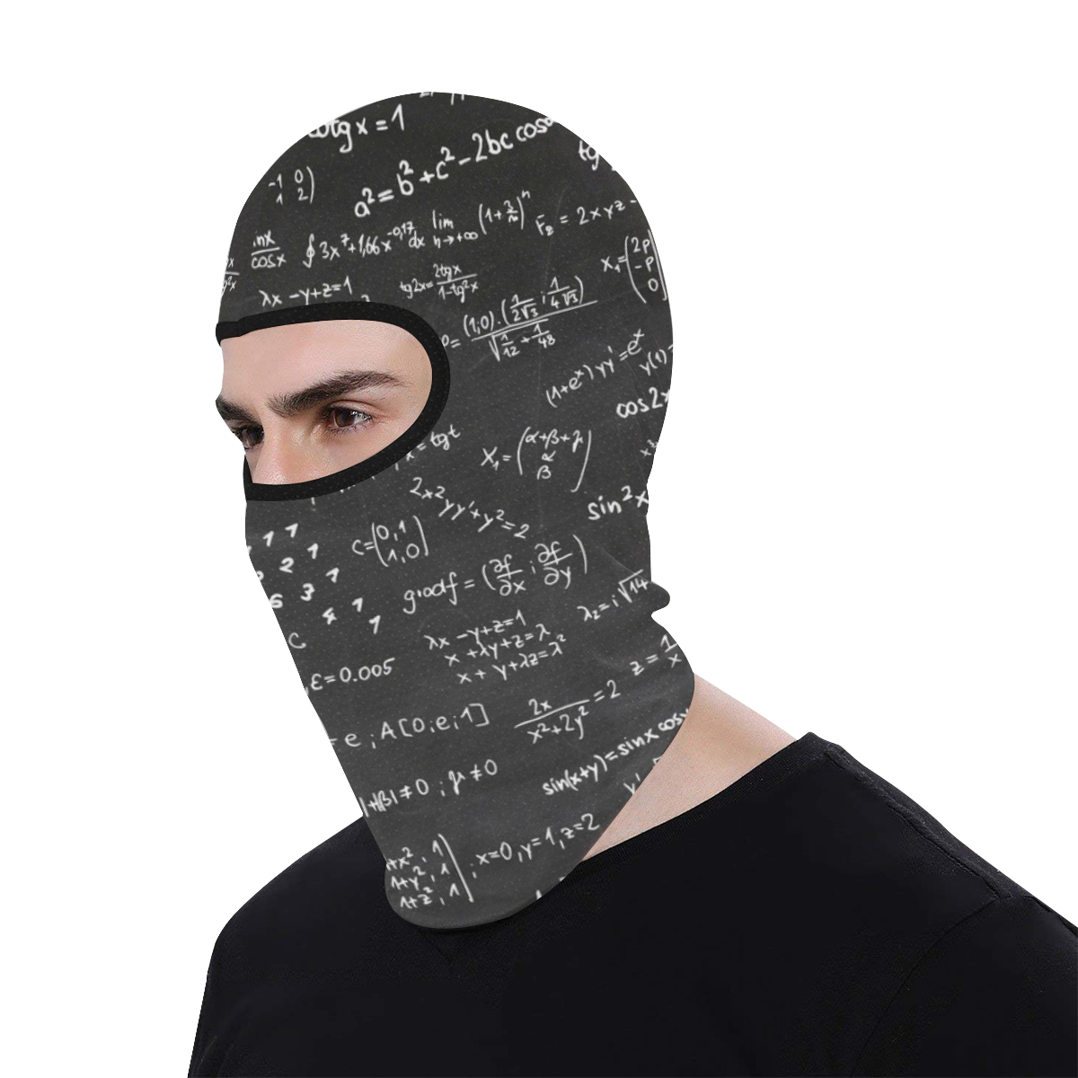 Mathematics Formulas Equations Numbers All Over Print Balaclava