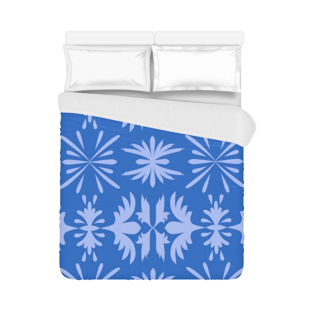 """Blue damask Duvet Cover 86""""x70"""" ( All-over-print)"""