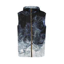 oil_a All Over Print Sleeveless Zip Up Hoodie for Men (Model H16)