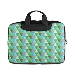 "Triangle Pattern - Green Teal Khaki Moss Macbook Air 11""(Twin sides)"