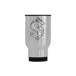 Hundred Dollar Bills - Money Sign Travel Mug (Silver) (14 Oz)