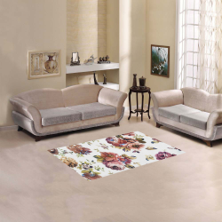 """Textured Flowers Pink Area Rug 2'7""""x 1'8''"""