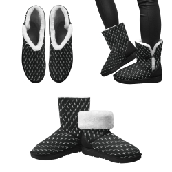 Bow Squiggles Unisex Single Button Snow Boots (Model 051)