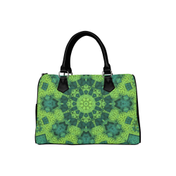 Green Theme Mandala Boston Handbag (Model 1621)